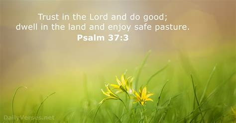Psalm 37:3 - Bible verse of the day - DailyVerses
