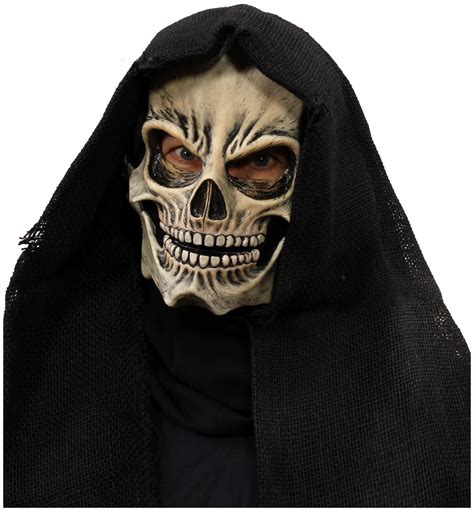 Grim Skull Overhead Moving Mouth Mask - PartyBell