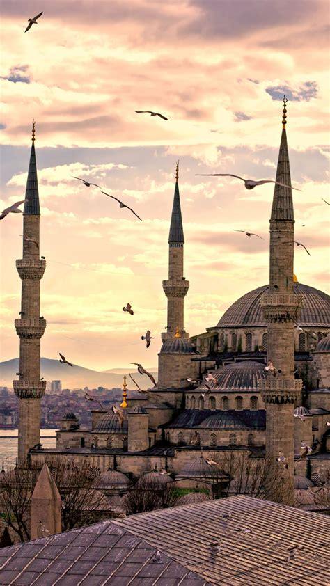 Wallpaper Sultan Ahmed Mosque, Istanbul, Turkey, Travel