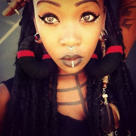 woman with ear gauges and dreadlocks - Google Search
