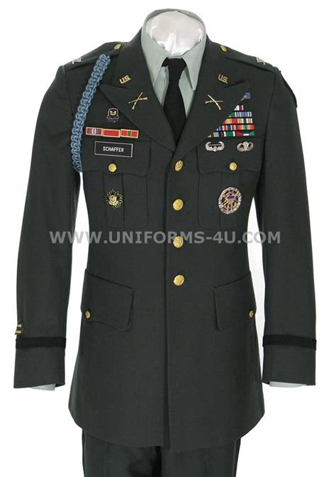 US Army officer Class A green uniform--jimmy just pinned