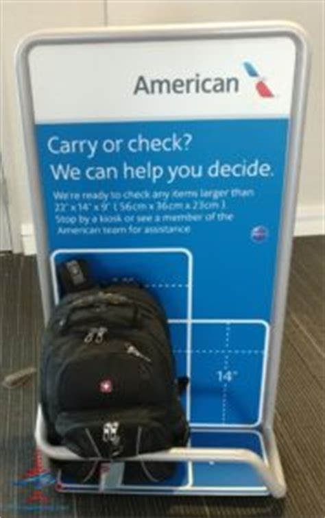 What are the United and American Airlines carry-on bag