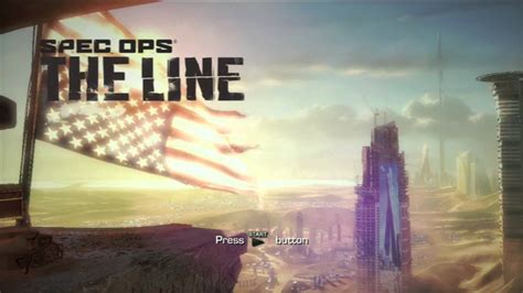 Spec Ops: The Line Boot Sequence and Title Screen - YouTube