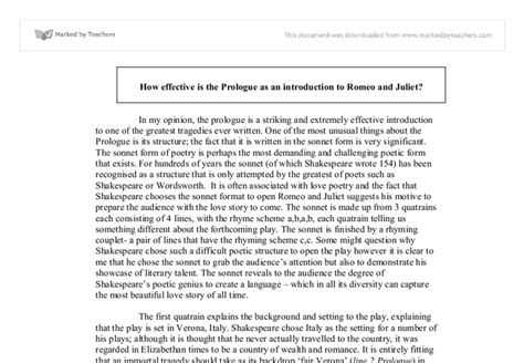 Literary essay topics for romeo and juliet