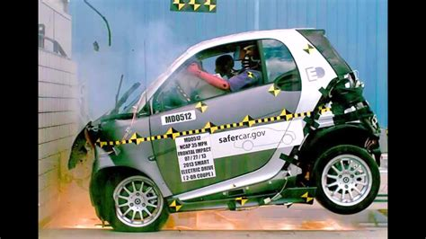 2013 Smart Fortwo Electric Drive   Frontal Crash Test by