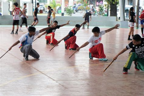 Athletes training in Arnis - Province of Abra