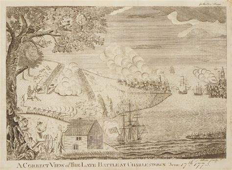 Rare and dramatic view of the Battle of Bunker Hill - Rare