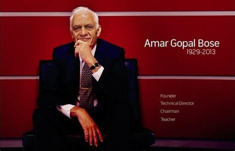 Amar Bose, Pioneer Of High Fidelity Sound Technology And