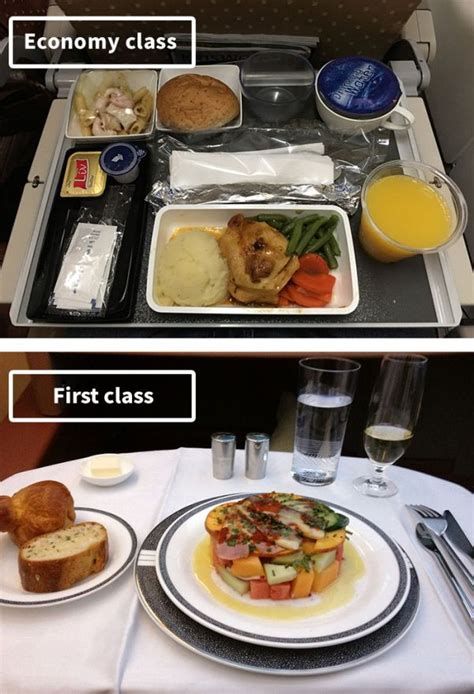 The Difference Between Airline Food In First Class Vs
