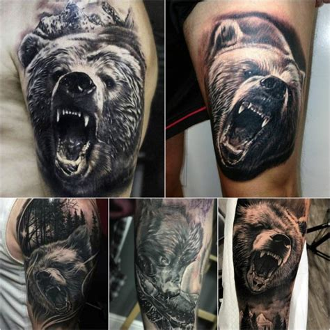 Bear Tattoo Design and Meanings - Strength, Courage and