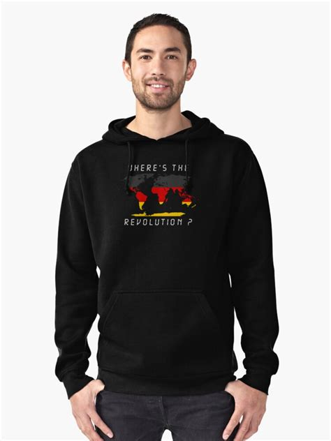 """""""Wheres the revolution Germany"""" Pullover Hoodie by"""