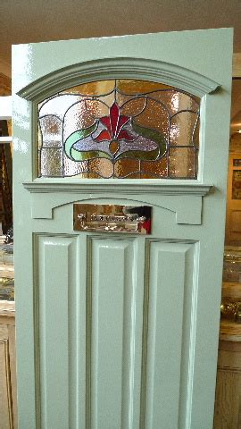 1930's Art Nouveau Stained Glass Front Door - Arch