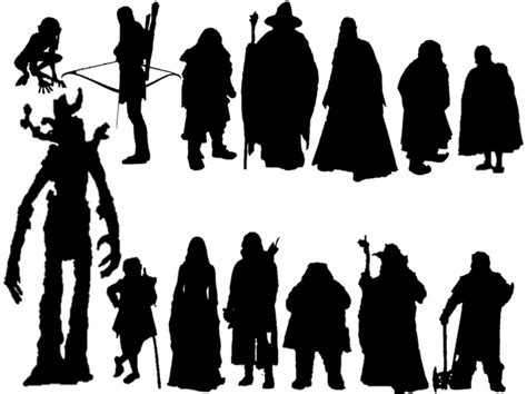 Silhouettes: Lord of the Rings Characters Quiz