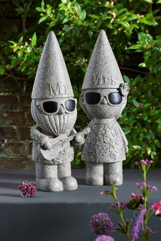Buy Set of 2 Mr And Mrs Garden Gnomes from the Next UK