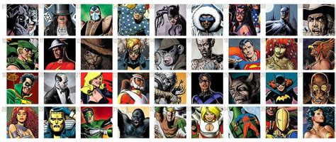 Can you name the heroes and villains of the DC universe