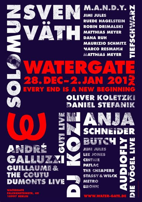 Watergate NYE Week – Every end is a new beginning