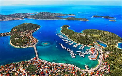 Rogoznica Is Located On The Adriatic Coast Between The